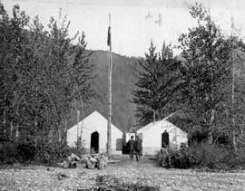 Camp of the Porcupine District Commission at the Klehini River