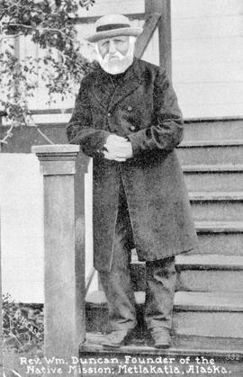 """Reverend William Duncan, Founder of the Native Mission; Metlakatla [Metlakahtla], Alaska.&q..."