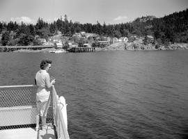 Approaching Fulford Harbour, Salt Spring Island.