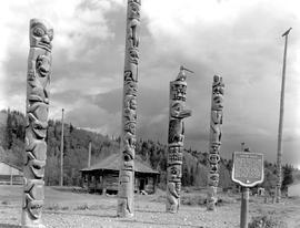 Totem poles at Kitwancool