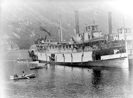 The SS Kokanee At Nelson; SS Nelson In Background.