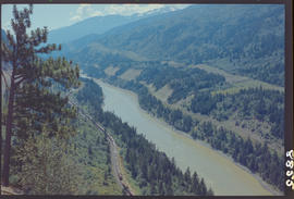 The Fraser River and the Fraser River Canyon near Jackass Mountain