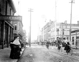 Cyclists on Fort Street, Victoria