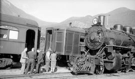 Pacific Great Eastern locomotive 57 at Lillooet.
