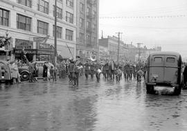 Victoria; Victory Bond parade; travelling west on Yates Street