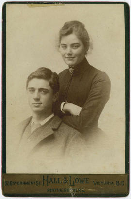 Emily Carr and her brother Dick.