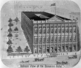 """Balloon view of the Dominion Hotel"", Victoria."