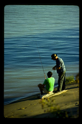 Fishing along the Fraser River