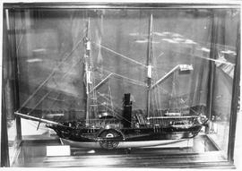 "Model inside display case of Hudson's Bay Company steam-powered sidewheeler ""Beaver&quo..."