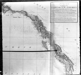 """A Chart Showing Part of the Coast of N.W. America."""