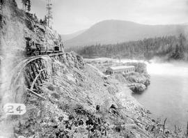 Early view of the powerhouse at Lower Bonnington Falls, West Kootenay Power and Light Co. Ltd.