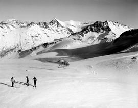 Helicopter skiing on Mount Fitzsimmon.