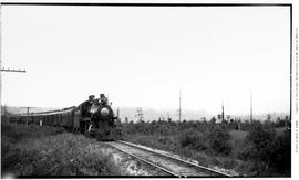 4-6-0 Esquimalt and Nanaimo [E & N] No. 461. 3/4 right, almost front view. On passenger in mi...