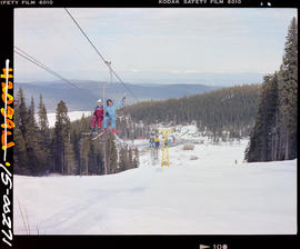 Chairlift At Purden Ski Area Near Prince George