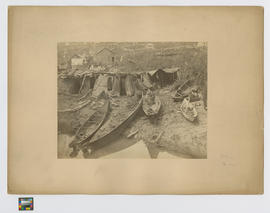 [Crossed out] Harrison River  [Replaced with] Musquiam [Musqueam]] Indians encamped at New Westmi...
