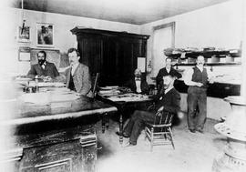 Staff of the Nanaimo Government Office; Marshall Bedwell Bray, Frank Bate, Archie Deck, Herb Stan...