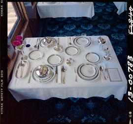 Dining Room Table, Railroad Museum, Cranbrook