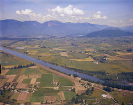 Aerial Of The Vedder Canal, Fraser Valley