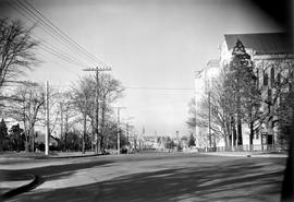 Quadra Street, looking north from Burdett Avenue, Victoria.