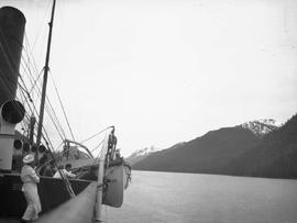 Fire drill aboard the SS Prince Rupert; in Grenville Channel.