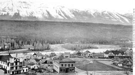 Town of Golden and the Selkirk Mountains.