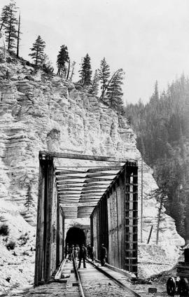 Rock Tunnel East Of Golden On The Canadian Pacific Railway