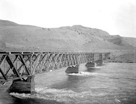 Bridge at Ashcroft over the Thompson River.
