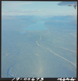 Aerial Of Kinaskan Lake Also Showing Stewart-Cassiar Road