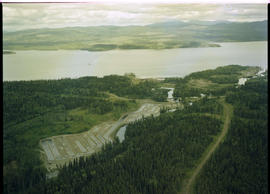 Aerial Fish Spawning Channel Babine Lake