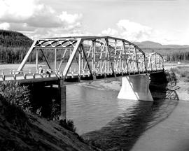 Alaska Highway. Bridge At Mile 533