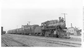 4-6-0 Esquimalt and Nanaimo [E & N] No. 460, 3/4 right. Semi-closeup. On passenger. Nanaimo. ...