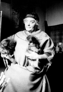 Emily Carr in her studio, 316 Beckley St., Victoria.