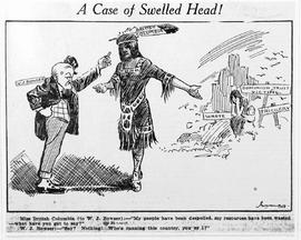 """A case of a swelled head!"""