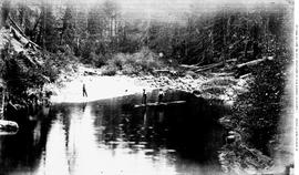 Leech River Prospectors At Deep Pool.