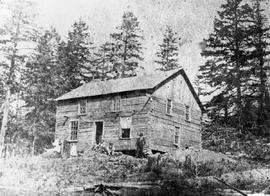 John H. Scafe's home built in the winter of 1874/75; in the Highlands, near Victoria.