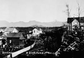 """Port Simpson, BC; Girls' Home""; at far right of photo."
