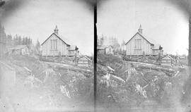 Holy Trinity Church, New Westminster, stereo view.