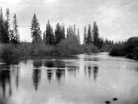 View of the Mud River taken during the Nechako Valey survey of 1980.