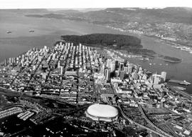 Aerial Of Vancouver, BC Place