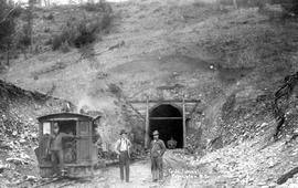 """G. N. tunnel, Princeton, BC""; driving tunnel for Great Northern Railway, southwest of ..."