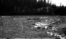 Will Ketlo and Frank Swannell running Ross Canyon on the Nechako River.