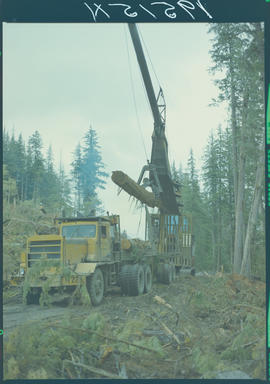 Logging Truck At Juskatla, City Queen Charlotte Islands
