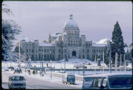 Winter Scene, Legislative Buildings, Victoria