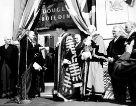 Sir Denys Lawson, Lord Mayor of London at the opening of the Douglas Building, Government Street,...