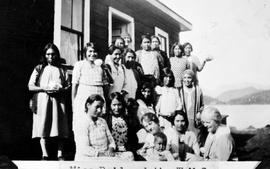 """Miss Reid and the W.M.S., Ahousaht""; Women's Missionary Society"