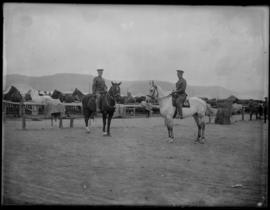 Soldiers at Vernon stables