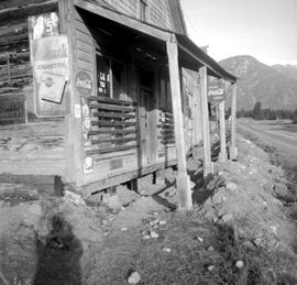 Fort Steele during restoration; Moore's Store.