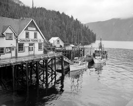 Butedale. Canadian Fishing Co. Wharf