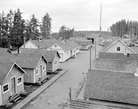 Pacific Mills logging camp at Sandspit, Queen Charlotte Islands.