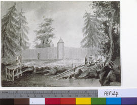 Exterior, Fort Victoria, Vancouver Island, 1851.